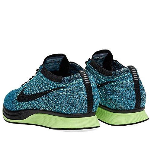 Nike Unisex Flyknit Stria Scarpa Da Corsa Blu Laguna / Nero-plrzd Blu