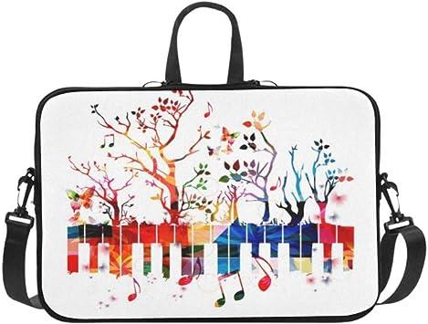 Colorido Teclado de Piano Arboles Notas Musicales Maletín ...