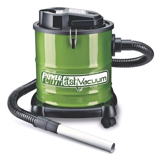 PowerSmith PAVC101 10 Amp Ash Vacuum with Metal Lined Hose, Motor Filter, and Canister Filter for use with Fireplaces, Wood Stoves, Ash Collectors, and Pellet Stoves (Pellet Stove Steel Brush)