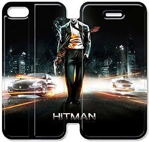 Caso del tirón del cuero Hitman T3N53X3 iPhone 5C funda Y4E95E1 claro duro caja del teléfono funda