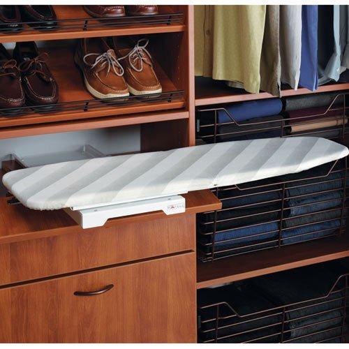 Ironing Board Shelf Mounted by Hafele, folding, steel, epoxy white by Hafele