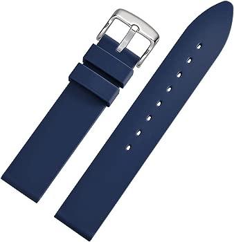WOCCI Correa Reloj de Silicona Suave, Impermeable y Resistente (18mm 20mm 22mm 24mm)