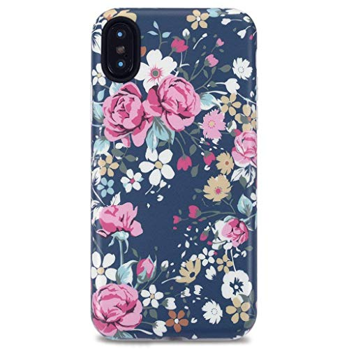 iPhone X Case for Girls/iPhone Xs Case,GOLINK Floral Series Slim-Fit Ultra-Thin Anti-Scratch Shock Proof Dust Proof Anti-Finger Print TPU Gel Case for iPhone X/iPhone Xs - Vintage Roses