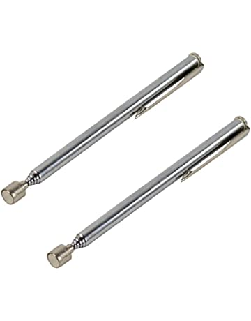Outil de ramassage magn/étique flexible t/élescopique Keenso avec lumi/ère LED /écrous et vis extensibles outil de ramassage daimant