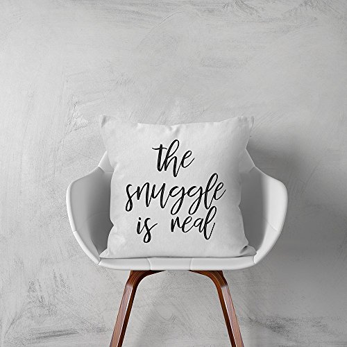 Anna Flora | The Snuggle Is Real Pillow Cover | Home Décor | Bedding Décor | Simple Quotes Pillow Cover | Love Quotes | Wedding Gift | Valentine Gift | Gift for Her Him Wife Husband
