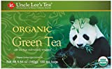 Uncle Lee's Organic Green Tea — 100 Tea Bags net wt 5.64 oz (160g) For Sale