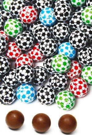DISOK - Balones Chocolate (Bolsa 175 Unids.) - Bombones Balon Pelota de Futbol, bombones para Cumpleanos, Comuniones y Fie
