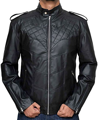 Adult Hero Super Halloween Costumes & Jackets (XXL, Bat Black with Black)