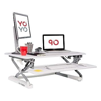 Yo Yo Desk 90 White Best Selling Height Adjustable Standing Desk