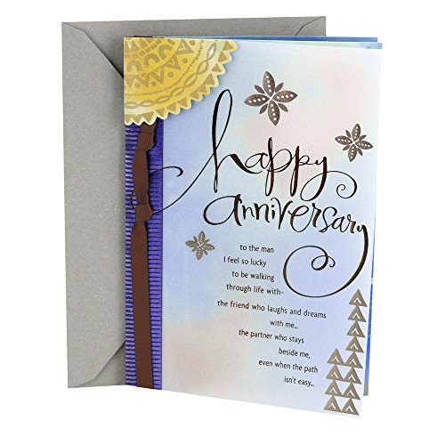 Hallmark Anniversary Greeting Card to Husband (Man I Love)