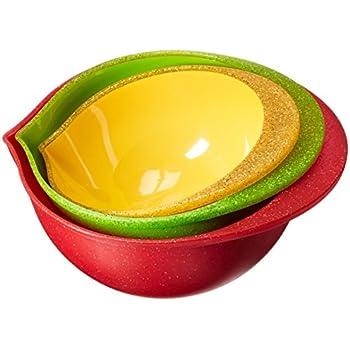Amazon Com Trudeau Melamine Mixing Bowls Set Of 3