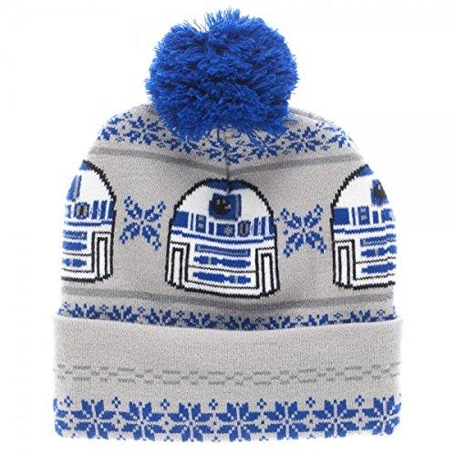 Star Wars R2-D2 Fair Isle Cuff Pom Beanie (R2d2 Hat)