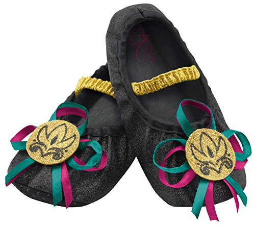 Disguise Anna Toddler Slippers Costume, One Size (Upto Size 6) (Toddler Scary Costumes)
