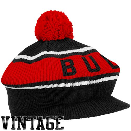 Mitchell & Ness Chicago Bulls Hardwood Classics Vintage Winter Caddy Hat - Black