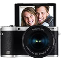 Samsung NX300M 20.3MP CMOS Smart WiFi & NFC Mirrorless Digital Camera with 18-55mm Lens and 3.3 AMOLED Touch Screen (Black)