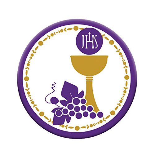 First Communion Pocket Medal with Chalice and IHS Host, 1 1/2 Inch, Pack of 3 ()