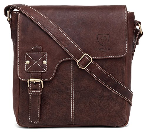 Pure Shoulder Handmade Bag Real Leather Leather 100 Vintage Work Flapover Messenger Genuine Crossover Mens iPad Women Hunter Everyday dqUwHYx
