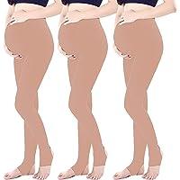 LOVELYBOBO 3 Pack Las mujeres embarazadas maternidad medias pantalones Leggings opaco medias 320 Denier