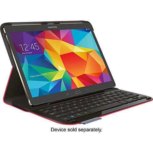 Logitech Type S Folio Keyboard Case For Samsung Galaxy Tab S 10.5 - Red from Logitech
