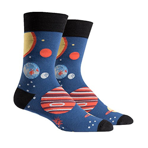 Sock It To Me Planets Mens Crew Socks OS (Gifts To Guys)
