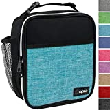 OPUX Premium Insulated Mini Lunch Bag for School | Work Lunch Box for Adult Men, Women | Soft Reusable Cooler Bag with Leakproof Liner | Compact Lunch Pail for Office (Turquoise)