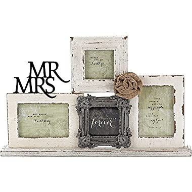 Tabletop Photo Collage Frame - Mr & Mrs/Together Forever
