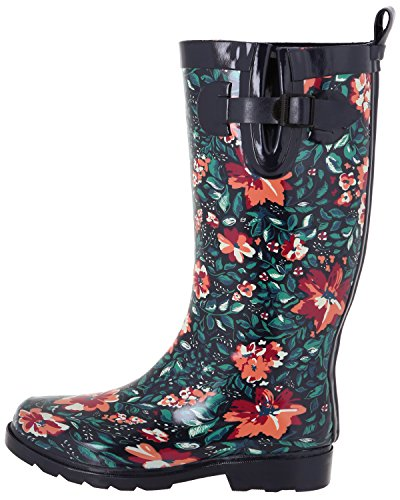 Capelli New York Ladies Lucido Alto Rainboot Blu Scuro