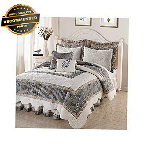 Gatton Premium New Ridgefid JACOBEAN Floral Comforter Set Shams Skirt King | Style Collection Comforter-311012772 ()