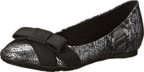 CL by Chinese Laundry Women's Amuse Ballet Flat,Pewter/Black,8.5 M US (Women Flat Shoes Clearance Dress)