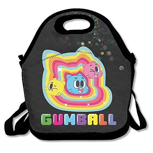 Bakeiy The Amazing World Of Gumball Lunch Tote Bag Lunch Box Neoprene Tote For Kids And Adults For Travel And Picnic School