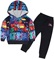 DSL Tracksuit Set for Boys Hooded Sweatshirt Sets 2 Piece Outfit Casual Streetwear Long Sleeve Pullover for Yo