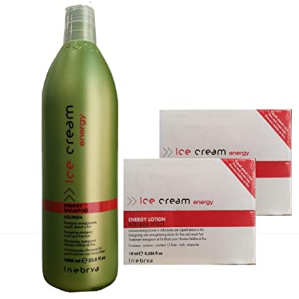 Kit Anticaída Energy Lotion X2 + Energy Shampoo 1000 ml inebrya