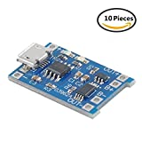 Makerfocus 10pcs TP4056 Charging Module 5V Micro USB 1A 18650 Lithium Battery Charging Board with Protection Charger Module