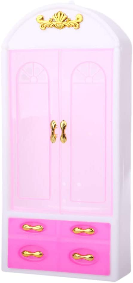 Haayward - New Doll Wardrobe, Princess Bedroom Furniture, Dollhouse Accessories for Barbie Dolls Fit American Girl Gift Collection