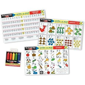 Amazon Com Melissa Amp Doug Numbers 1 10 Write A Mat Toys