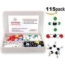 Organic Chemistry Model Kit (115 pieces) Chemistry Set Molecular Model Kit, Atoms and Bonds with Instructional Guide - Chemistry Kit for Students, Teachers & Young Scientists