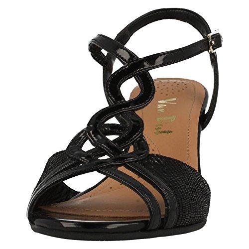 Van Dal Shalimar Damen Sandalen Black Patent/Lizard