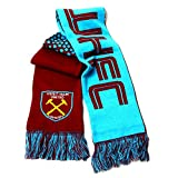 Club Licensed West Ham Utd Fade Scarf - Maroon/Sky - One Size