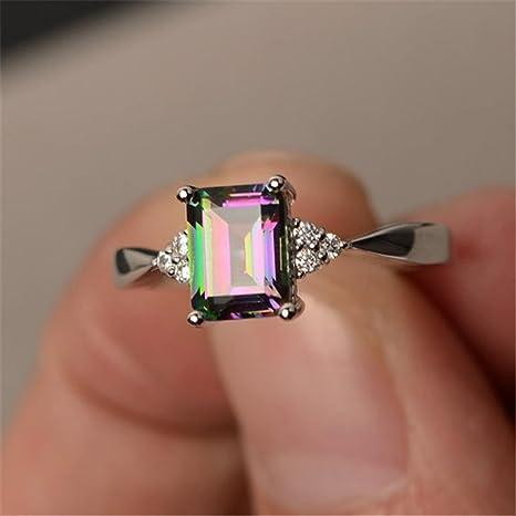 Schmuck Damen Ring, Dragon868 Frauen Silber Ring Prinzessin