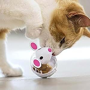 Pawaca - Dispensador de pelota para gatos, juguete de alimentación para mascotas, bola interactiva para dispensar tratamiento ...