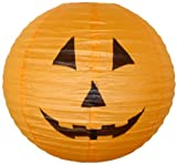 "Just Artifacts 16"" Orange Halloween Pumpkin Paper Jack-O'-Lantern/Lamp 16"" Diameter - Just Artifacts Brand"