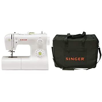 Singer Tradition 2273 - Máquina de coser mecánica, 22 puntadas, color blanco + Funda para máquina de coser, color negro: Amazon.es: Hogar