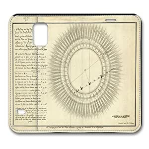 Leather Samsung Galaxy S5 Flip Case, Transit Of Venus Of 1761 Samsung Galaxy S5 Full Body Protector Leather Flip Folio Case Cover, Original Design And Made By PhilipHayes