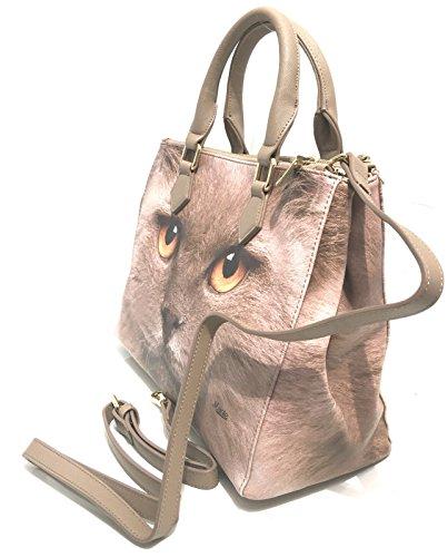 Donna Viola Beige Comparti Cat 3 Manie B17ma03 Bag Shopping Borsa Mod dOPzwX