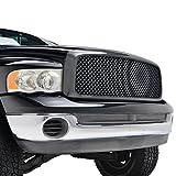 dodge ram 1500 black mesh grill - E-Autogrilles ABS Black Carbon Fiber Look Front Mesh Packaged Grille Grill for 02-05 Dodge Ram 1500 / 03-05 Dodge Ram 2500 / 03-05 Dodge Ram 3500