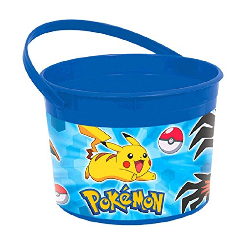 Pokemon Pikachu & Friends Birthday Party Plastic Treat Favor Bucket Container (Treat Plastic Pail)