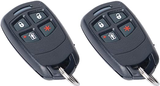 2 Pack Honeywell 5834-4 Four Button Wireless Key Remotes