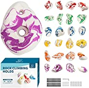 BABY FUN Rock Climbing Holds for Kids & Adult,Rock Wall Grips for Indoor and Outdoor Play Set - Build Rock