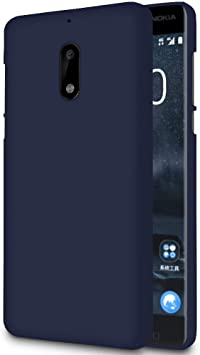 United Case Bumper Blando para Nokia 6 | Goma Azul Marino | Anti ...