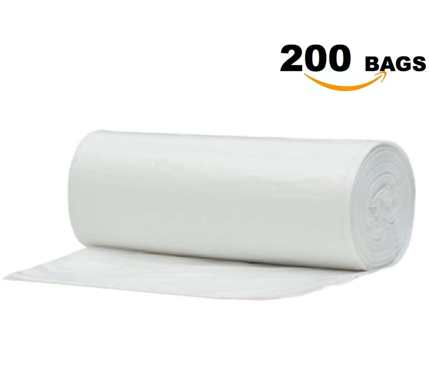 8 Gallon Clear Garbage Trash Bags, 200 Count